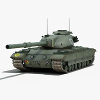 post conqueror heavy tank 3d max