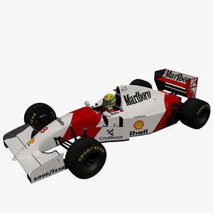 3ds max ayrton senna mclaren mp4