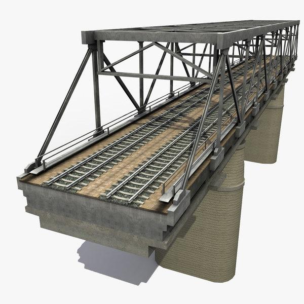 railway bridge 3d max