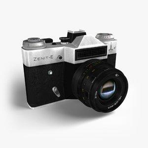 3d model of photocamera zenit-e