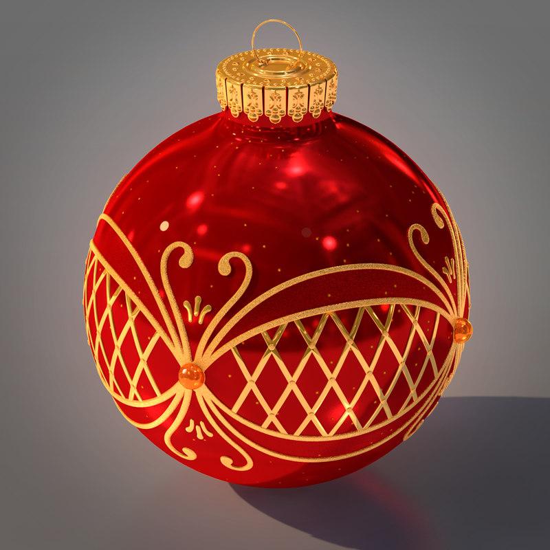 christmas ball 3d ma