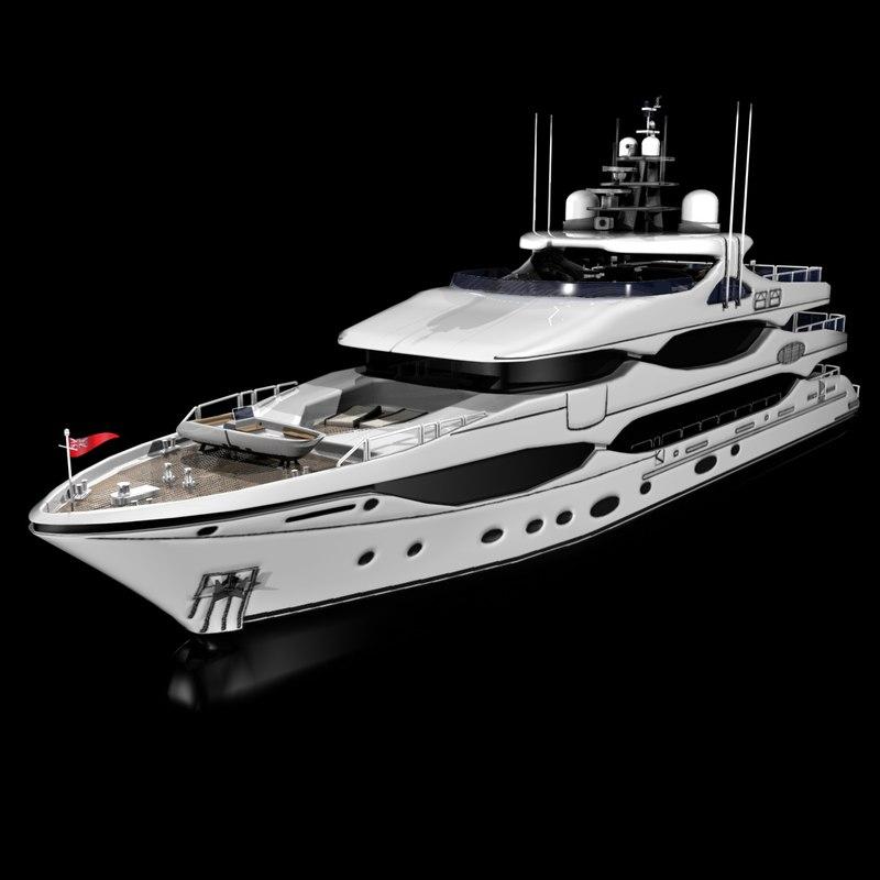 3d motor yacht christensen cruising