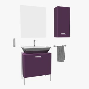 countertop washbasin unit 3d max