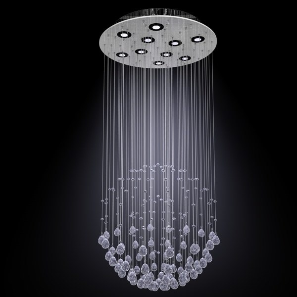 spherical chandelier 3d model
