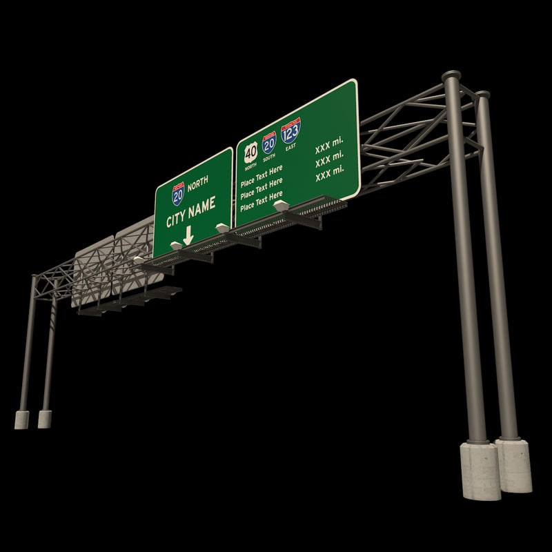 highway sign freeway dxf