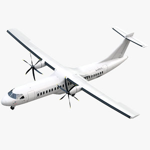 3ds max atr 600 airplane