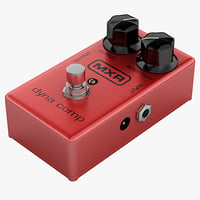 3d model guitar compressor mxr dyna