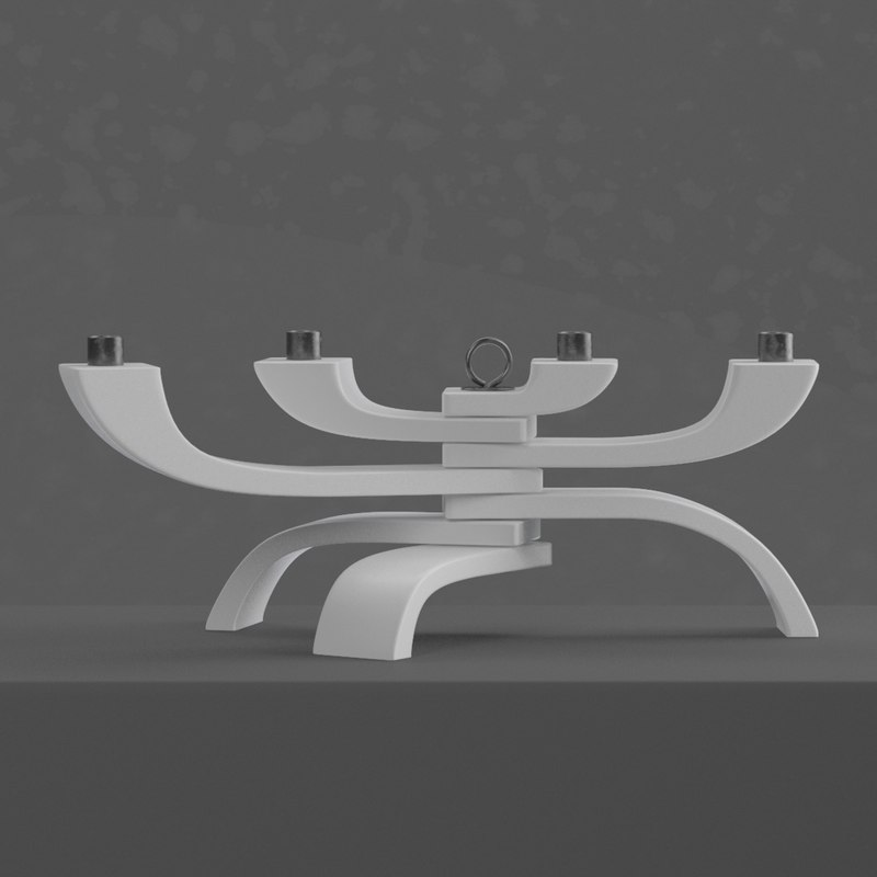 3d model 4-arm lights