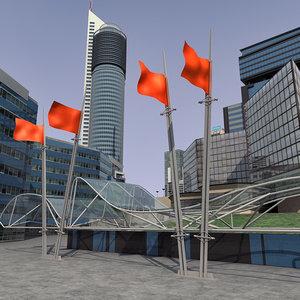 modern city 3d model