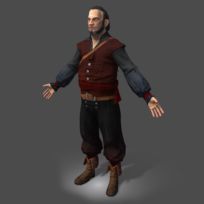 3d model pirate shipyard master real-time