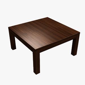 obj realistic kotatsu table wood