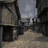 medieval buildings c4d