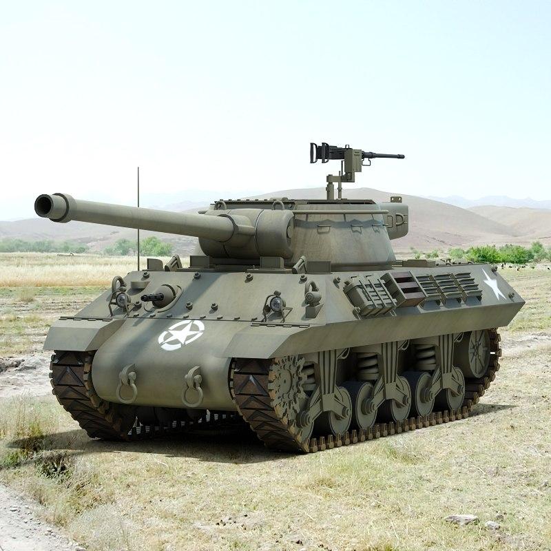 ww2 m36 jackson tank destroyer 3d model