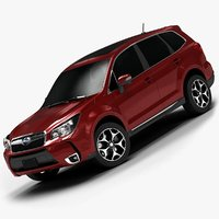 3d 2014 subaru forester interior model