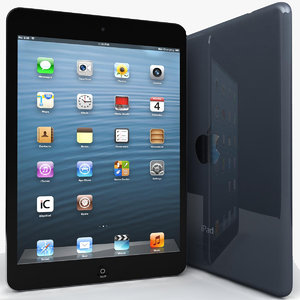 apple ipad mini blue 3d model