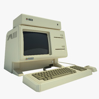 apple lisa computer 3d model