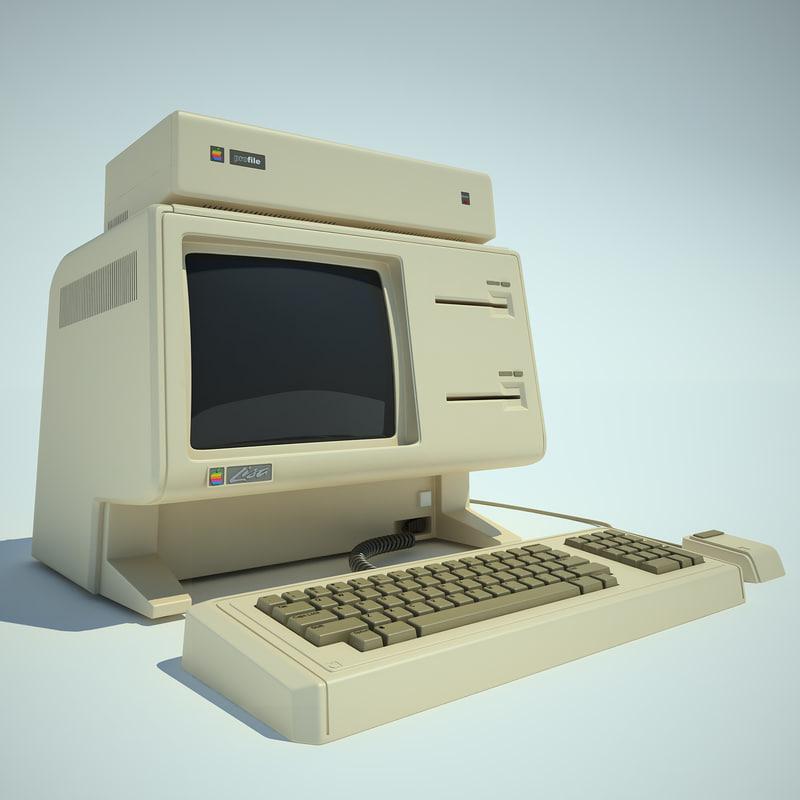 apple lisa computer 3d model
