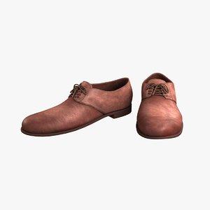 classic men s shoes 3d max