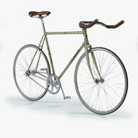 3d max photorealistic fixed gear bicycle