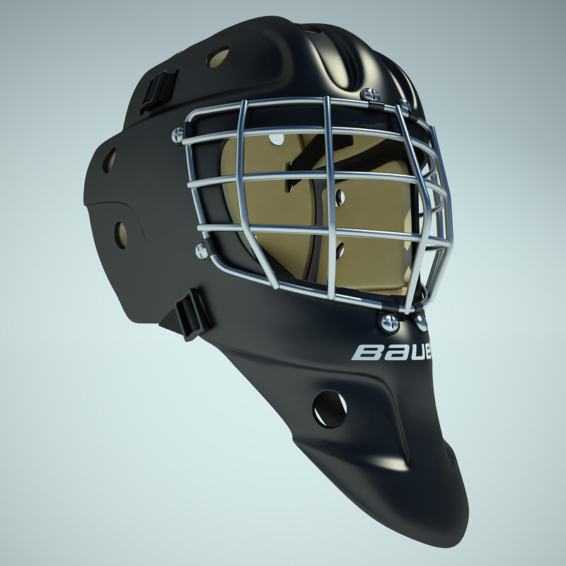3d model ice hockey helmet