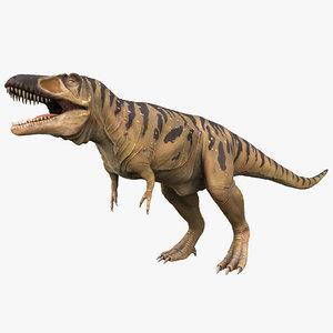 3d model tarbosaurus rigged dinosaur