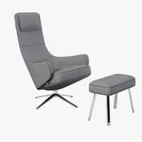 Vitra Elegant Lounge Chair By Antonio Citterio
