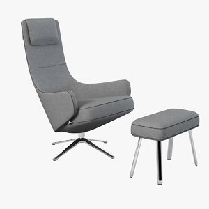 max vitra elegant lounge chair