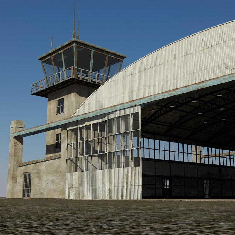 old hangar 3d model
