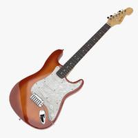 fender american deluxe stratocaster 3d model