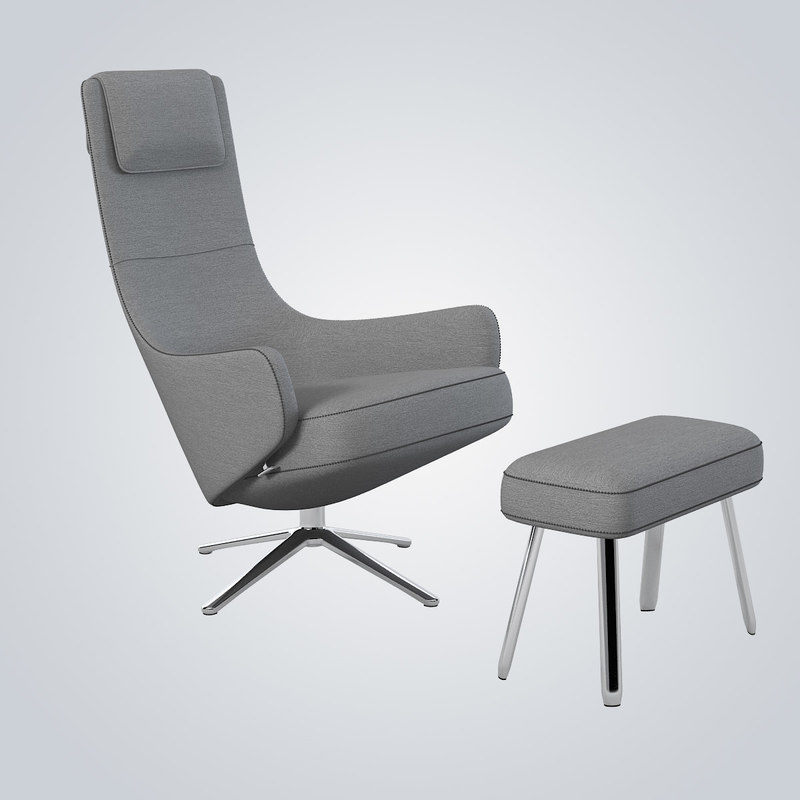 max vitra elegant lounge chair