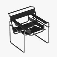 breuer chair wassily 3d 3ds