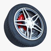 car sport wheel 3d model