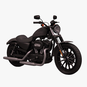 3d model harley davidson iron 883