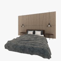 contemporary bedroom 3d max