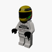 3d lego lewis hamilton model