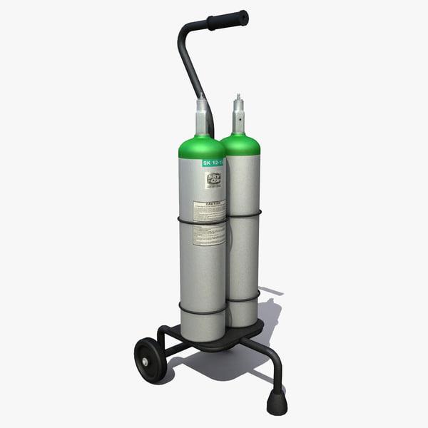 oxygen cart tank