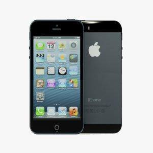 iphone 5s phone 3d model