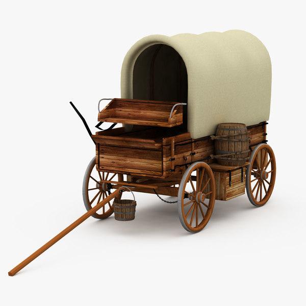 western chuckwagon wagons 3d x
