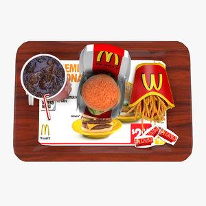3d model fast food pack