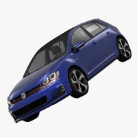 volkswagen golf gti 5-door 3d model