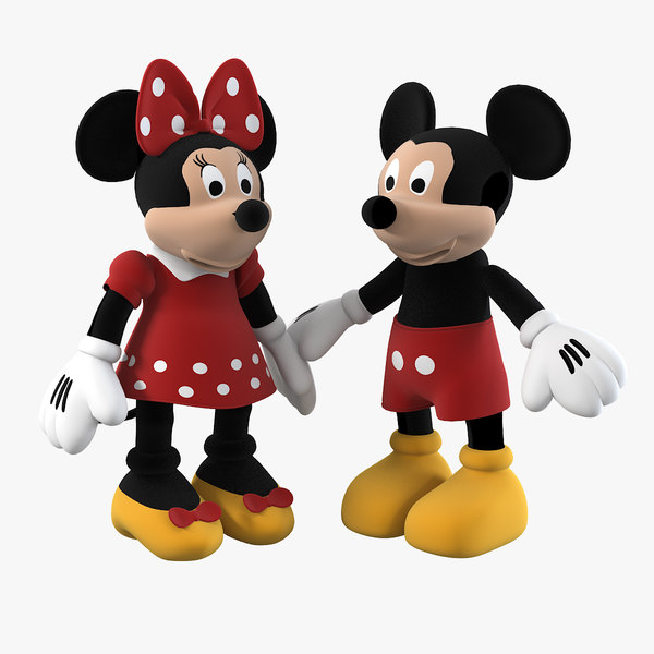3d model mickey mouse family