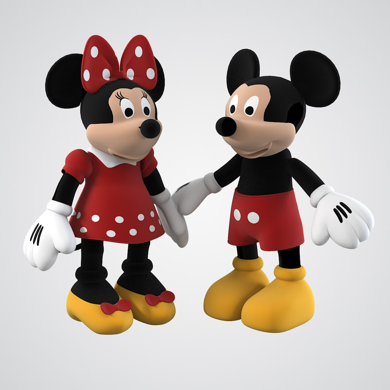 3d model mickey mouse family. Black Bedroom Furniture Sets. Home Design Ideas