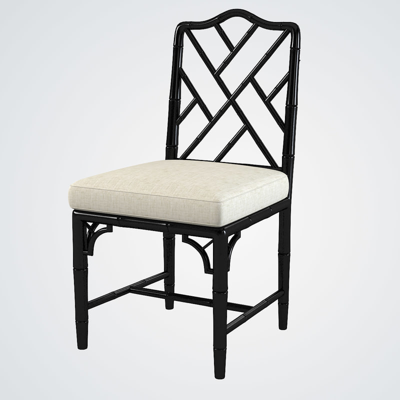 3d model chinese chippendale chair