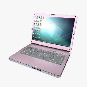 sony vaio laptop 3d model