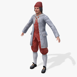 pirates head foreman real-time 3d model