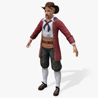 3d pirates moneylender real-time model