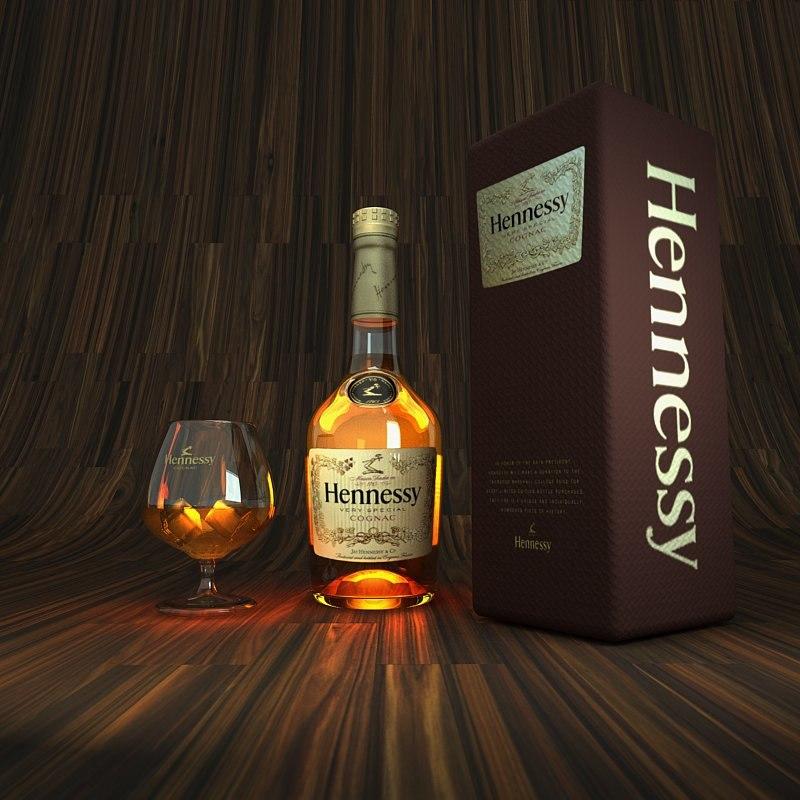 3d model bottle glass