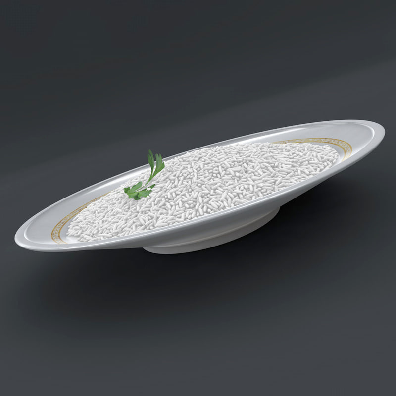 c4d plate rice