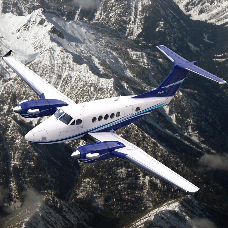 3d beechcraft king air 250 model