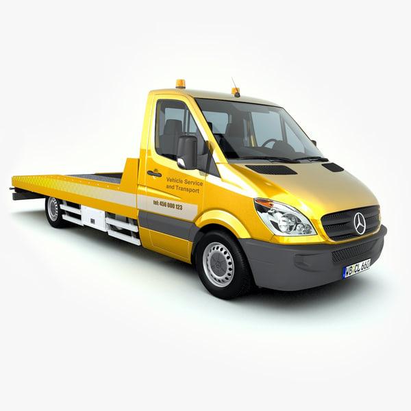 3d model mercedes-benz sprinter tow truck